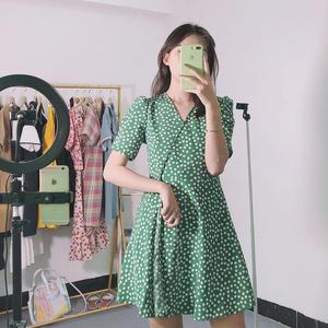 橙小小 夏季<span class=H>女裝</span>2019新款連衣裙收腰顯瘦氣質夏天流行裙子夏高端