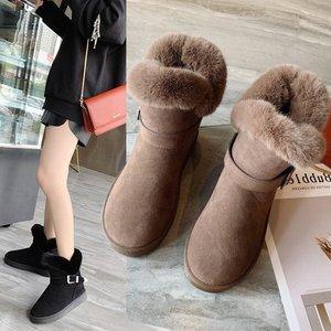 秋冬加绒雪地靴高帮鞋内增高靴