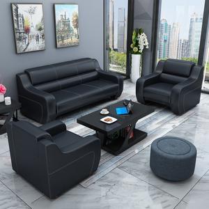 办公沙发简约现代三人位办公家具商务会客接待办公室沙发<span class=H>茶几</span>组合