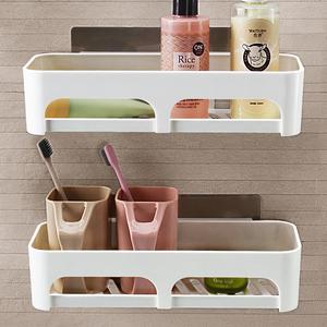 厨房<span class=H>用品</span>收纳架壁挂储物架免打孔浴室洗漱台置物架墙上置物卫生间