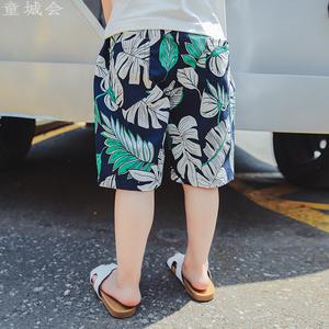 男童短裤夏季薄款2019新款休闲中大童儿童沙滩裤宽松宝宝棉麻外穿