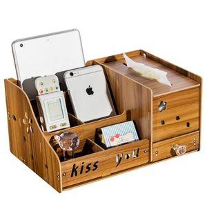 女孩结实多用途茶几床头柜摇空器收纳盒 客厅抽纸盒家庭家