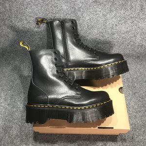 DR牛皮厚底松糕底8孔1460软皮机车<span class=H>马丁靴</span>女JADON时尚新款短靴女款