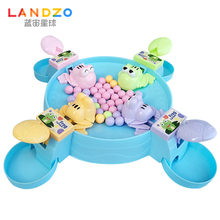 Blue Zeus/LANDZO Frog Eating Bean Toy Shake Toy Kids Parent-Child Tabletop Intelligence Game