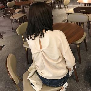 春季女装2019新款韩版百搭宽松圆领长袖加绒衬衫女短款学生上衣