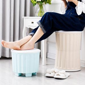 收纳凳<span class=H>储物凳</span>可坐成人塑料收纳盒换鞋凳寝室宿舍<span class=H>储物凳</span>沙发小凳子
