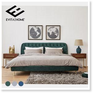 <span class=H>美式</span>布艺床主卧现代简约双人床1.8米丝绒北欧复古轻奢软包床卧室
