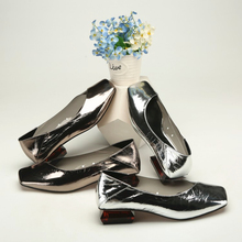 Giussano Zago Spring and Autumn New Square Head and Shallow Mouth Women's Single Shoes Low Uppers and Flat Bottoms