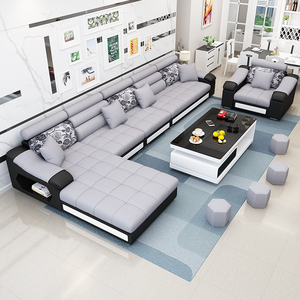 新款布艺<span class=H>沙发</span>现代简约可拆洗<span class=H>沙发</span>客厅整装贵妃转角小户型乳胶<span class=H>沙发</span>