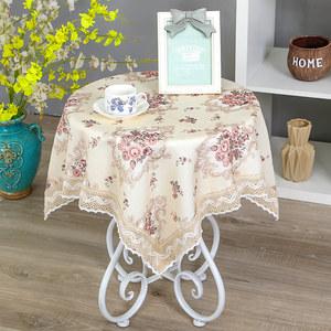 小圆桌桌布布艺棉麻小清新长方形圆形茶几台布正方形田园蕾丝家用