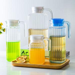 乐美雅冷水壶玻璃凉水壶瓶大容量泡茶壶家用扎壶耐热高温凉白开