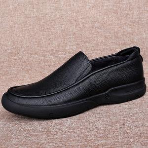 天天特价男士大码小码加绒加棉<span class=H>牛皮</span><span class=H>男鞋</span>软皮黑色厚底商务休闲皮鞋