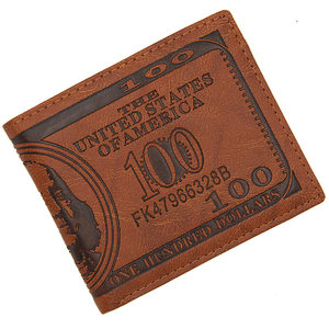 钱币<span class=H>钱包</span>短款男 个性创意美元图案卡包 欧美复古美金皮夹钱夹
