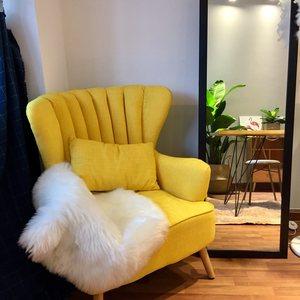 北欧简约现代布艺单人沙发田园小户型酒店卧室书房休闲沙发老虎椅