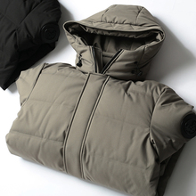 Anti-season down jacket is too worthwhile for high-ranking men's fashion hat, medium-length down 90 white duck down jacket 065