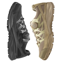 Officer's Low Gang Tactical Boots Male Spring and Autumn Special Soldier's Outdoor Waterproof, Skid-proof and Wear-resistant Hiking Shoes