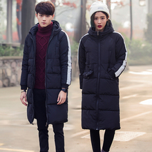 Anti-Season Trend Men's Winter Dress Medium-long Outdoor Thickened Down Dress Youth Couple Dress Korean Edition Slimming Coat