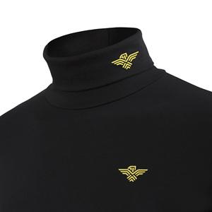 男士高领打底衫<span class=H>男装</span>长袖加绒加厚保暖内衣t恤纯棉修身韩版冬季潮