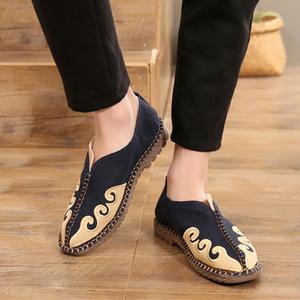 中式唐装汉服中国风<span class=H>男装</span>亚麻帆布鞋子春季民族<span class=H>服装</span>禅鞋复古男布鞋