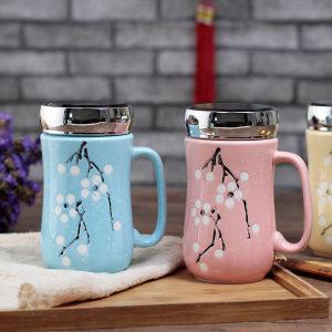 ins创意<span class=H>杯子</span>陶瓷杯带盖办公室大容量马克杯咖啡杯牛奶杯家用水杯