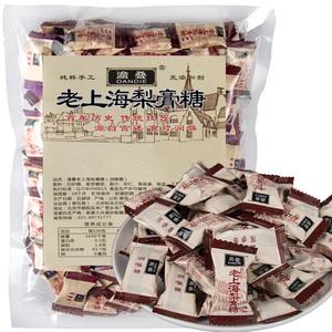 老上海特产百草梨膏糖传统古法手工熬制500g清凉润喉糖爽咽嗓薄荷