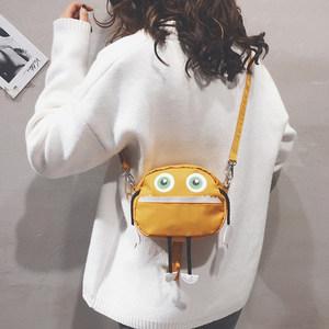 搞怪小包包女2018新款韩版创意可爱萌软妹单肩包时尚迷你斜挎包潮