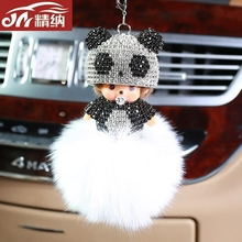 Auto pendant, high-end interior decoration, lovely Mon Kiki Hei Que jewelry, car crystal pendant, creative Pendant