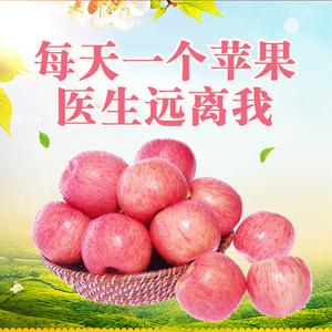【咸阳特产】陕西正宗礼泉高山红富士 新鲜<span class=H>苹果</span>水果整箱五斤中果