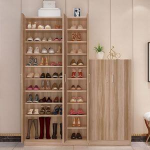 阳台简易组装大容量<span class=H>鞋柜</span>简约现代门厅柜经济型门口鞋架实木储物柜
