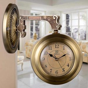 双面钟表客厅欧式<span class=H>挂表</span>现代家用钟两面表创意美式挂钟简约北欧时钟