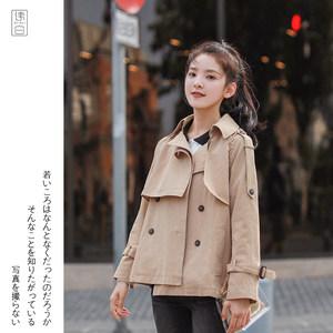 风衣外套女短款韩版秋季2018新款早秋宽松长袖学生百搭小个子上衣