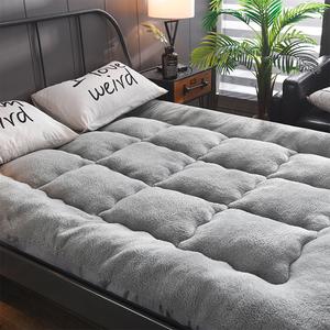 羊羔绒<span class=H>床垫</span>加厚1.5m床1.2米学生宿舍垫被<span class=H>床垫</span>子褥子1.8m床2米双人