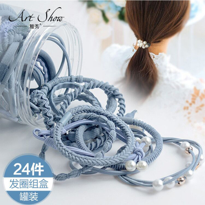 【24件装】简约发圈女发绳皮筋的图片