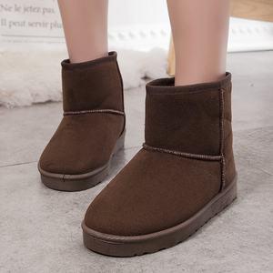 秋冬季新款加绒<span class=H>雪地靴</span>女短靴加厚防滑短筒女靴子平底保暖学生棉鞋