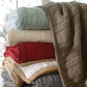 北欧<span class=H>毛毯</span>空调毯加厚双人办公室午睡毯盖毯纯棉单人<span class=H>线毯</span>加<span class=H>绒毯</span>