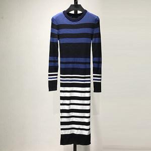 【格】品牌折扣特价女装条纹针织<span class=H>连衣裙</span>12月4日晚8点上新