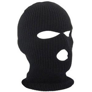 保暖头套3孔面罩CS黑色反恐面罩双孔蒙面帽男士运动护头露嘴露眼
