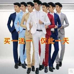 四季<span class=H>工作服</span>中山装加厚套装男西服青年修身西装新郎礼服中国风唐装