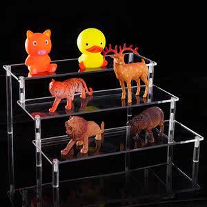 便宜亚克力玩具车模型展示架摆件放公仔娃娃手办梯形架子<span class=H>汽车</span>收纳