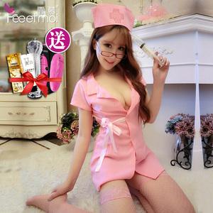 霏慕情趣护士制服组合套装内衣激情套装sm透视蕾丝装性感女仆衣服