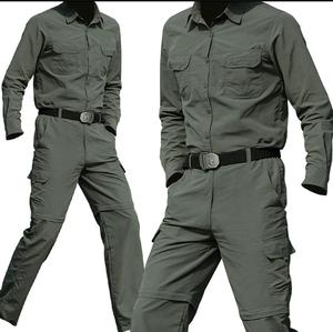 军装套装男士夏季短袖透气军绿色速干衣套装快干衣户外军迷<span class=H>服装</span>女