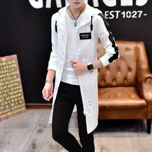 Windshield Men's Long Korean Trendy Thin Sunscreen Clothes New Overcoat for Students in Spring and Summer of 2019