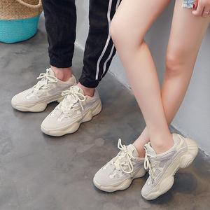女<span class=H>运动鞋</span>2018新款百搭韩版爆款白色情侣夏季bf街拍款黑色老爹鞋男
