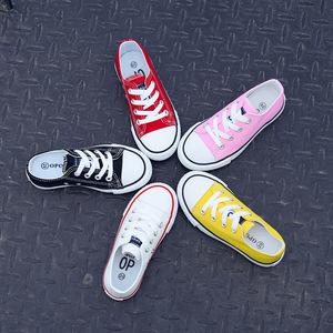 7春秋儿童帆布鞋1-3岁半5女童鞋系鞋带8女孩小白鞋6男童板鞋9亲子