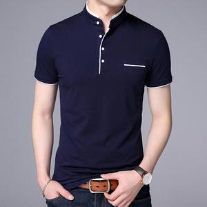 2019夏季短袖t恤男士圆领纯色半袖白色韩版潮流打底衫上衣服男
