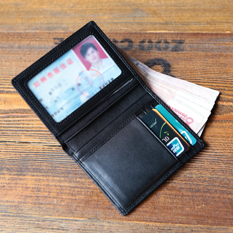 Childe Lee super thin mini small purse man short style of leather Jian Yue's man's youth soft leather pocket small money clip 5 dollars - intl