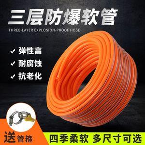 橡塑黄胶PVC高压防爆浩丝牛筋塑料蛇皮<span class=H>软管</span>花园浇花洗车自来<span class=H>水管</span>