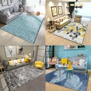 北欧几何现代简约<span class=H>地毯</span>客厅沙发茶几家用美式定制地垫ins可机洗