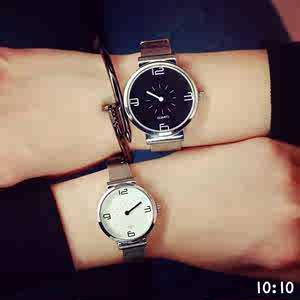 情人节生日送男女友创意纪念礼物情侣<span class=H>手表</span>一对 时针分针学生防水