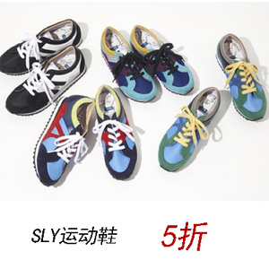 香港SLY正品<span class=H>现货</span>透气运动鞋网布男<span class=H>女鞋</span>轻便休闲运动时尚潮流
